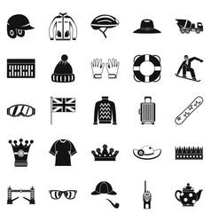 Headdress icons set simple style vector