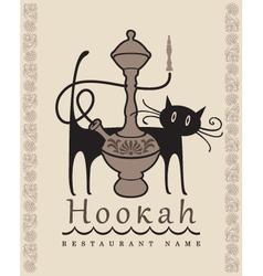 Hookah cat vector image vector image