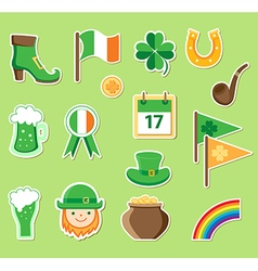 Icons for St Patricks Day vector image