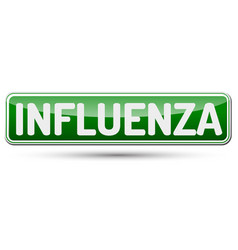 Influenza - abstract beautiful button with text vector