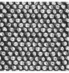 ink hand drawn abstract circles seamless pattern vector image
