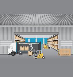 Logistics transportation vector
