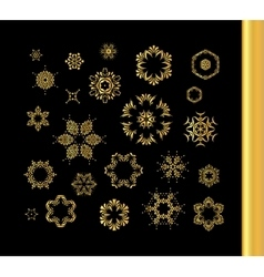 Mandala gold round ornament pattern vector