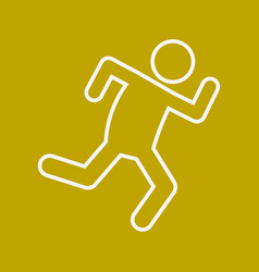 marathon run outline sport figure symbol graphic vector image