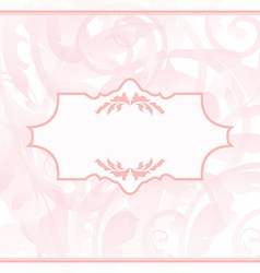Ornamental wedding or baby card vector image vector image