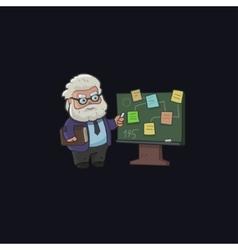 Professor character design vector