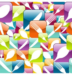 Restaurant Icon seamless pattern vector image