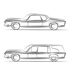 Retro cars vector image