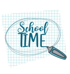School time doodle clip art greeting card vector