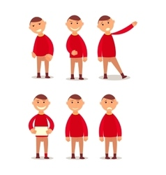 Schoolboy Design work and animation Face body vector image