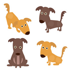 set of cute dogs set of cute dogs vector image