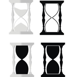 set of hourglass vector image