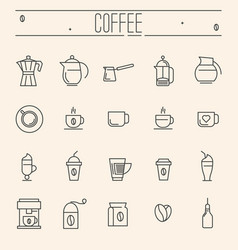 set of icons for coffee shop cafe menu vector image