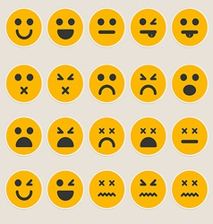 Set smileys emoticons vector
