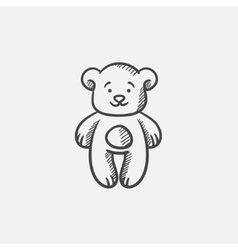 Teddy bear sketch icon vector image vector image