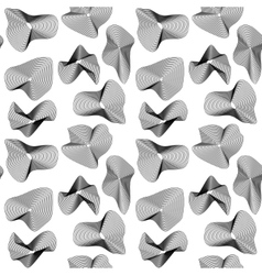 The pattern of the black guilloche elements vector