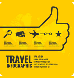 travel infographics buy air tickets vector image vector image