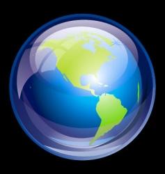 ultra glossy globe vector image