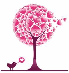 valentine decorative tree vector image