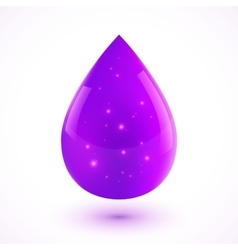 Violet liquid isolated drop vector