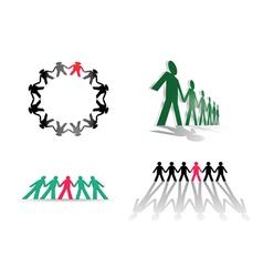 Human figures vector image