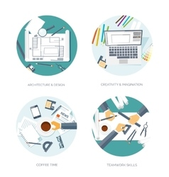 Flat architectural project vector image