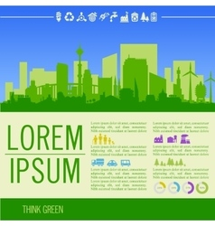 Infographics green with vector