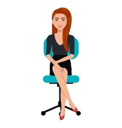 Business person sitting on office chair vector