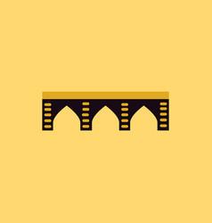 ancient stone arch bridge vector image