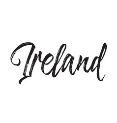 Ireland text design calligraphy vector