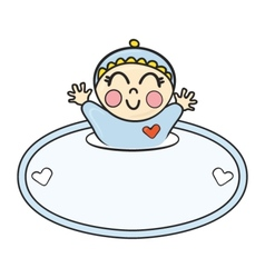 Label with baby vector image
