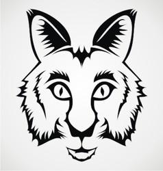 Wild cat tribal vector