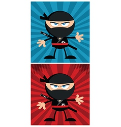 Cartoon ninja design vector