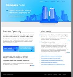 city website template vector image