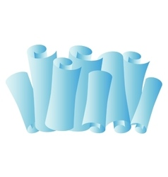 Paper scroll paper roll vector