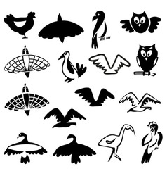 Stylized birds vector