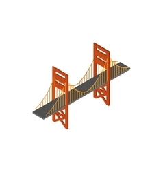 Bridge icon isometric 3d style vector