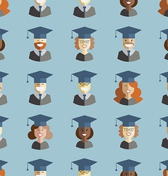 Men and women students graduates seamless vector