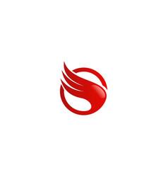 abstract wing air logo vector image vector image