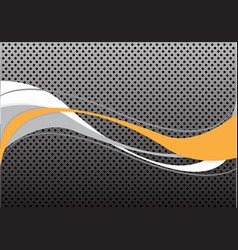 abstract yellow gray white line wave circle mesh vector image vector image
