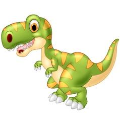 Adorable dinosaur tyrannosaurus isolated on transp vector