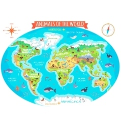 Animals of The World Flat Design Concept vector image vector image