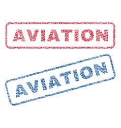 aviation textile stamps vector image vector image