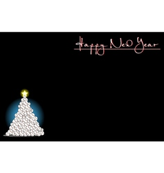 Background with Christmas tree of baseball vector image vector image