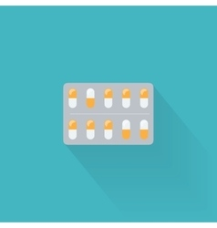 Blister pack icon vector