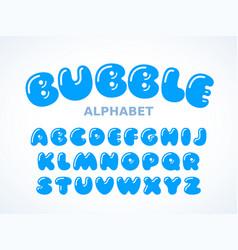 bubble alphabet vector image