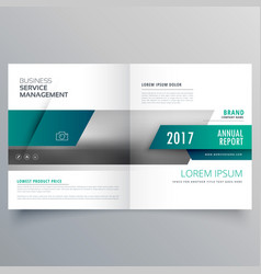 Business catalog booklet cover page layout design vector