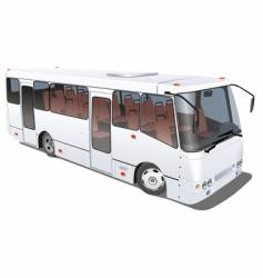 City mini bus vector