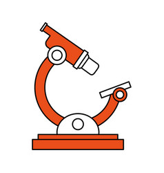 color silhouette image cartoon orange microscope vector image