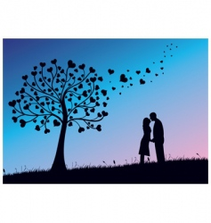 couple kissing vector image vector image